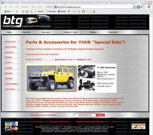 BTG Motoring website