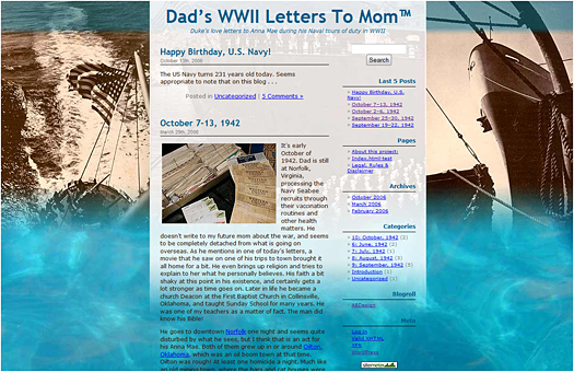 Dads WWII Letters To Mom